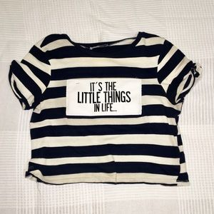 Zara Loose Crop Top with quote